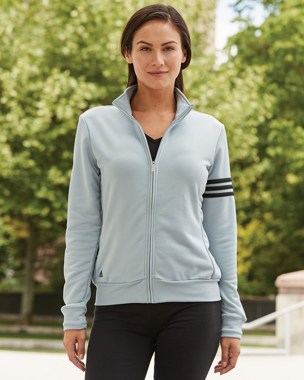 613da6fe2138 Adidas – Golf Women s ClimaLite 3-Stripes French Terry Full-Zip Jacket