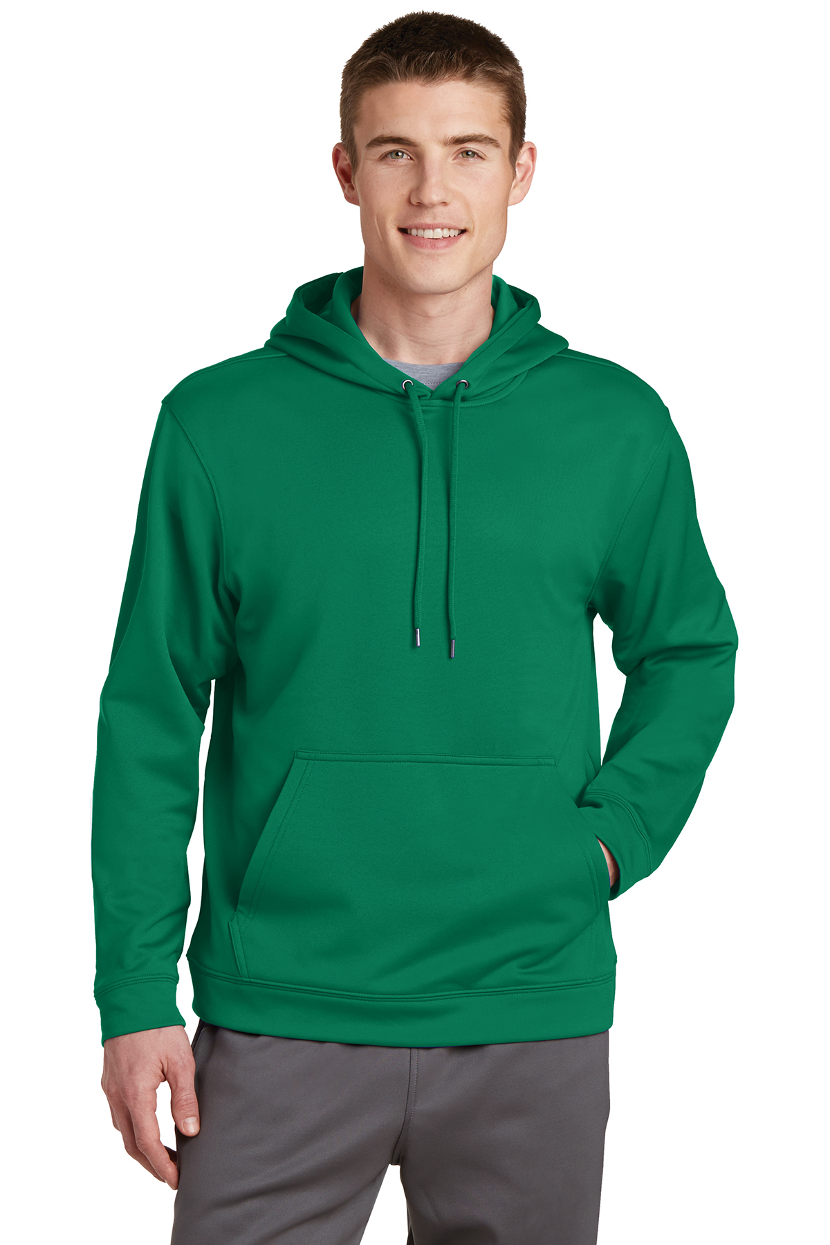 Sport Tek Sport Wick Fleece Hooded Pullover Gsh Apparel Looks ggod and less casual than a fleece with a fuzzy finish. gsh apparel